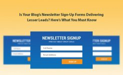 Is Your Blog's Newsletter Sign-Up Forms Delivering Lesser Leads? Here's What You Must Know
