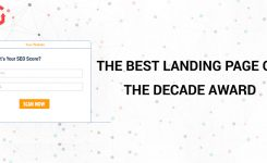 The Best Landing Page of the Decade Award