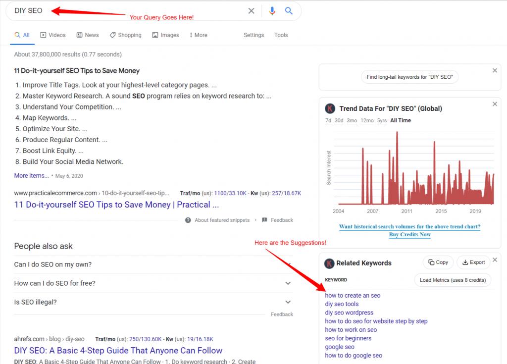 diy seo google search